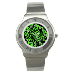 Green and black Stainless Steel Watch