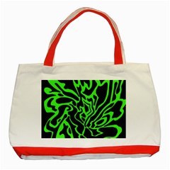 Green and black Classic Tote Bag (Red)