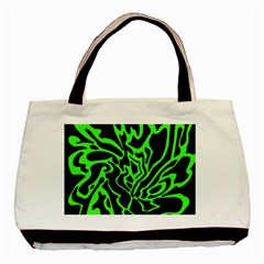 Green and black Basic Tote Bag (Two Sides)