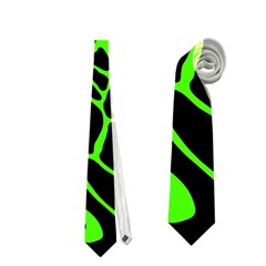Green And Black Neckties (two Side)