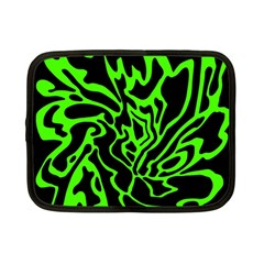 Green and black Netbook Case (Small)