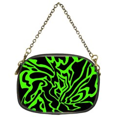 Green and black Chain Purses (One Side)
