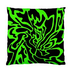 Green and black Standard Cushion Case (One Side)