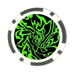 Green and black Poker Chip Card Guards (10 pack)