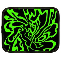 Green and black Netbook Case (XL)