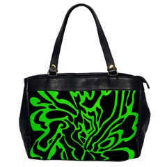 Green and black Office Handbags