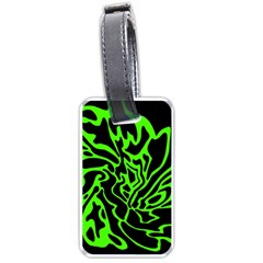 Green and black Luggage Tags (Two Sides)