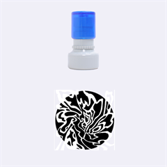 Green and black Rubber Round Stamps (Small)