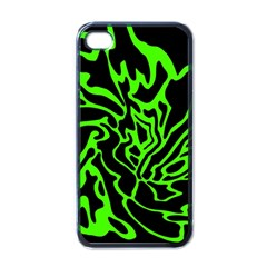 Green and black Apple iPhone 4 Case (Black)
