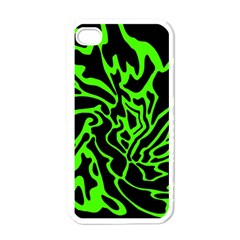 Green and black Apple iPhone 4 Case (White)