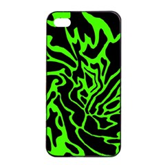 Green and black Apple iPhone 4/4s Seamless Case (Black)