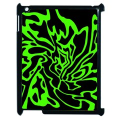 Green and black Apple iPad 2 Case (Black)