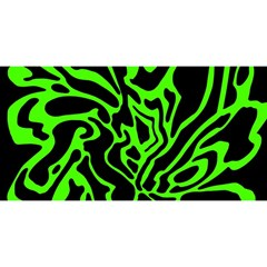 Green and black YOU ARE INVITED 3D Greeting Card (8x4)