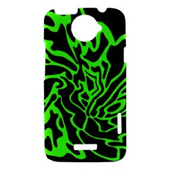 Green and black HTC One X Hardshell Case