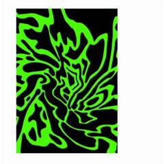 Green and black Large Garden Flag (Two Sides)