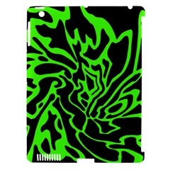 Green and black Apple iPad 3/4 Hardshell Case (Compatible with Smart Cover)