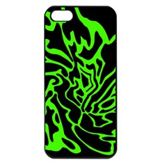 Green and black Apple iPhone 5 Seamless Case (Black)