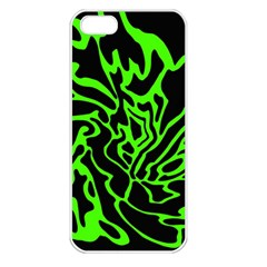 Green and black Apple iPhone 5 Seamless Case (White)