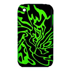 Green and black Apple iPhone 3G/3GS Hardshell Case (PC+Silicone)