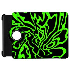 Green and black Kindle Fire HD Flip 360 Case