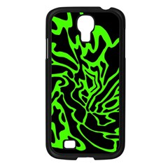 Green and black Samsung Galaxy S4 I9500/ I9505 Case (Black)