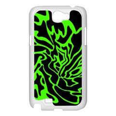 Green and black Samsung Galaxy Note 2 Case (White)