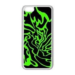 Green and black Apple iPhone 5C Seamless Case (White)
