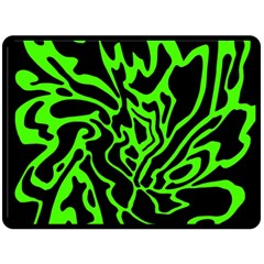 Green and black Double Sided Fleece Blanket (Large)