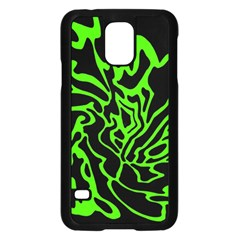 Green and black Samsung Galaxy S5 Case (Black)