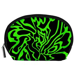 Green and black Accessory Pouches (Large)