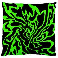 Green and black Standard Flano Cushion Case (One Side)