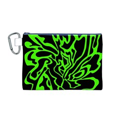 Green and black Canvas Cosmetic Bag (M)