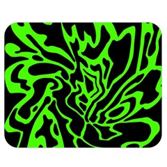 Green and black Double Sided Flano Blanket (Medium)
