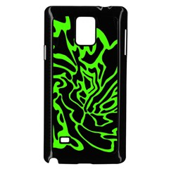 Green and black Samsung Galaxy Note 4 Case (Black)