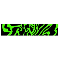 Green and black Flano Scarf (Small)