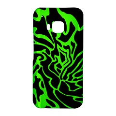 Green and black HTC One M9 Hardshell Case