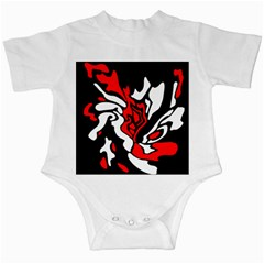 Red, black and white decor Infant Creepers