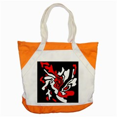 Red, black and white decor Accent Tote Bag