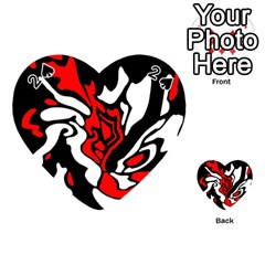 Red, black and white decor Playing Cards 54 (Heart)
