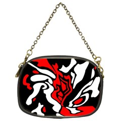 Red, black and white decor Chain Purses (One Side)