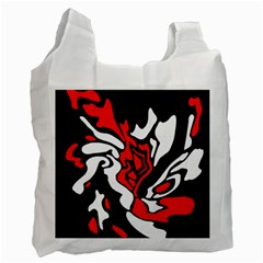 Red, black and white decor Recycle Bag (Two Side)