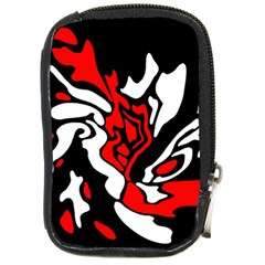 Red, black and white decor Compact Camera Cases