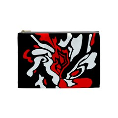 Red, black and white decor Cosmetic Bag (Medium)