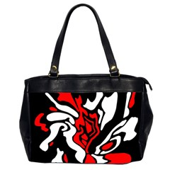 Red, black and white decor Office Handbags (2 Sides)