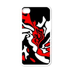 Red, black and white decor Apple iPhone 4 Case (White)