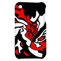 Red, black and white decor Apple iPhone 3G/3GS Hardshell Case