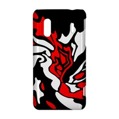 Red, black and white decor HTC Evo Design 4G/ Hero S Hardshell Case