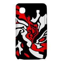 Red, black and white decor Samsung Galaxy SL i9003 Hardshell Case