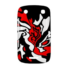 Red, black and white decor BlackBerry Curve 9380