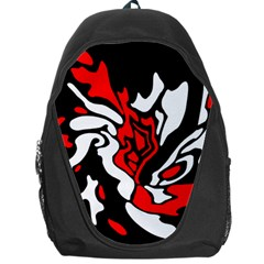 Red, black and white decor Backpack Bag